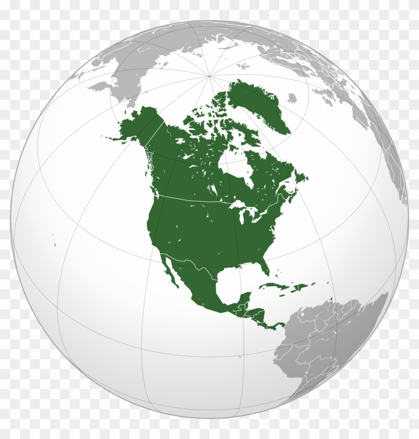 Map Of North America After Planet X.2000 X 2000 9 North America Map Globe Hd Png Download 2000x2000