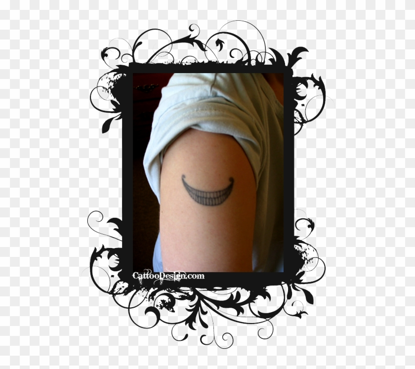 My Cheshire Cat Tattoo Design Photo Cheshire Cat Smile Tattoo Design Hd Png Download 516x667 920568 Pngfind