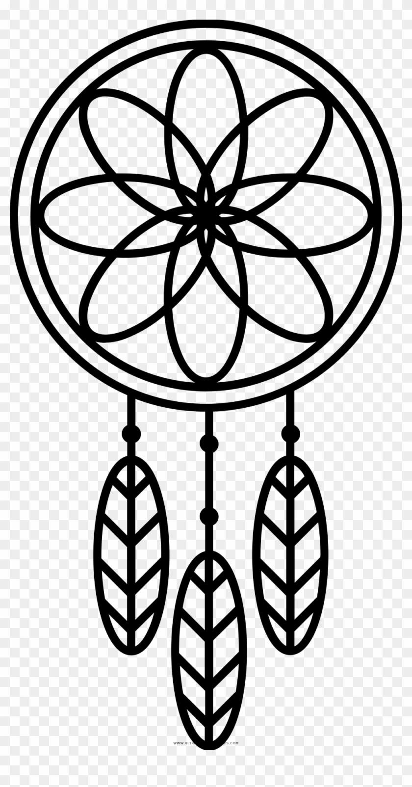 Dreamcatcher Coloring Page Round Geometric Patterns Png Transparent Png 1000x1862 934349 Pngfind