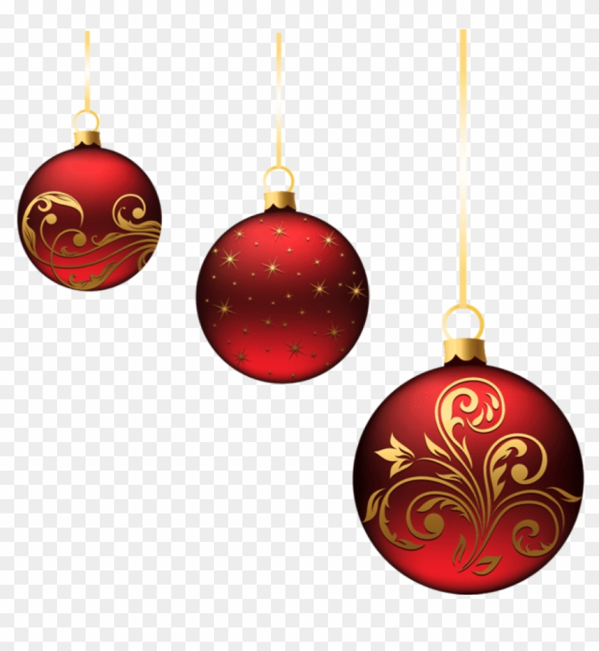 Red Christmas Ornaments.Free Png Christmas Red Balls Ornaments Png Images