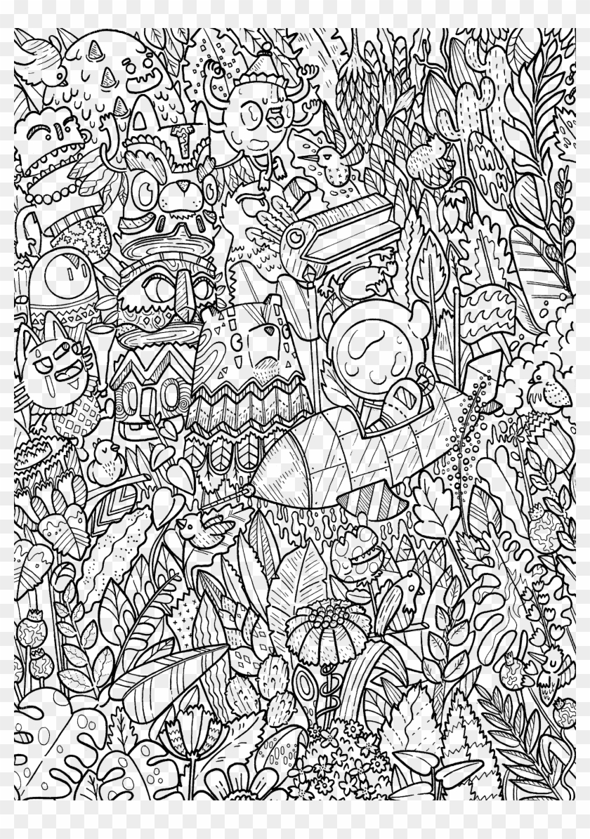 Doodle Coloring Book Color - Doodles In Outer Space Coloring Book ...
