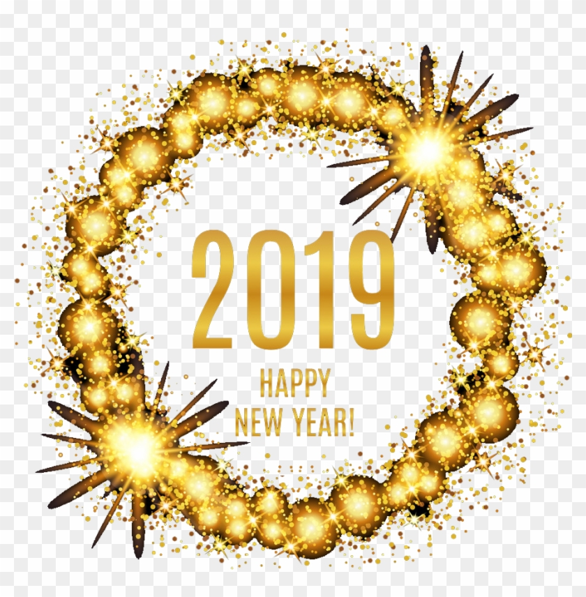 Happy New Year 2020 Greeting Cards With Fireworks