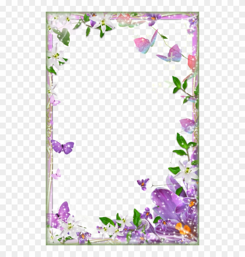 Page Border Designs Flowers - Flower Page Border Design, HD