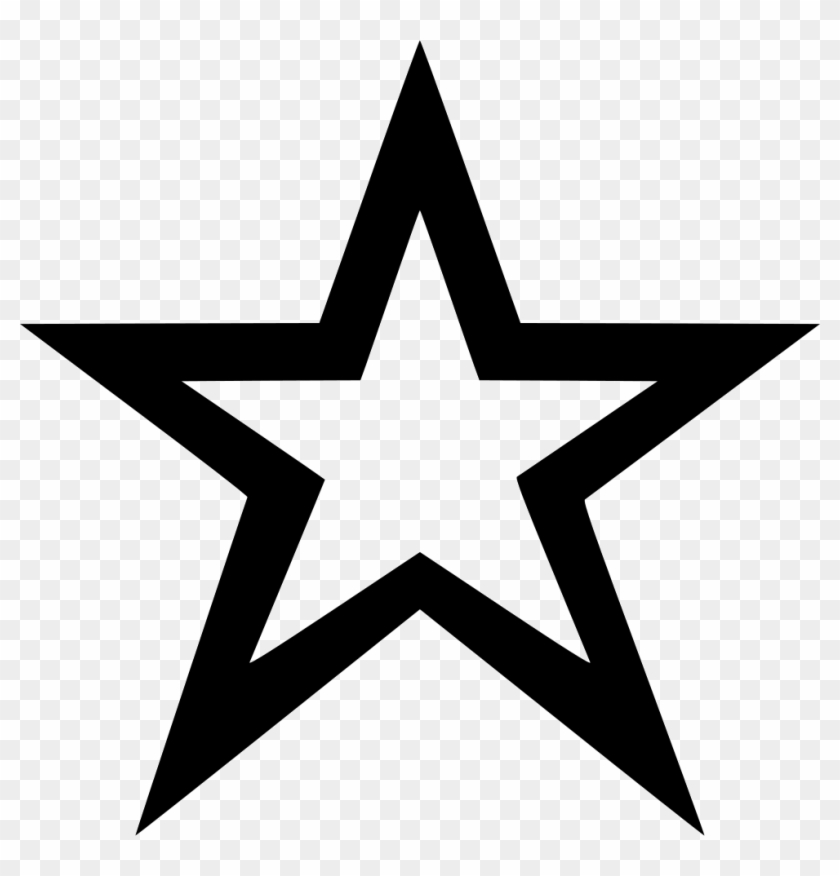Star Outline Comments - Star Icon Material Design, HD Png