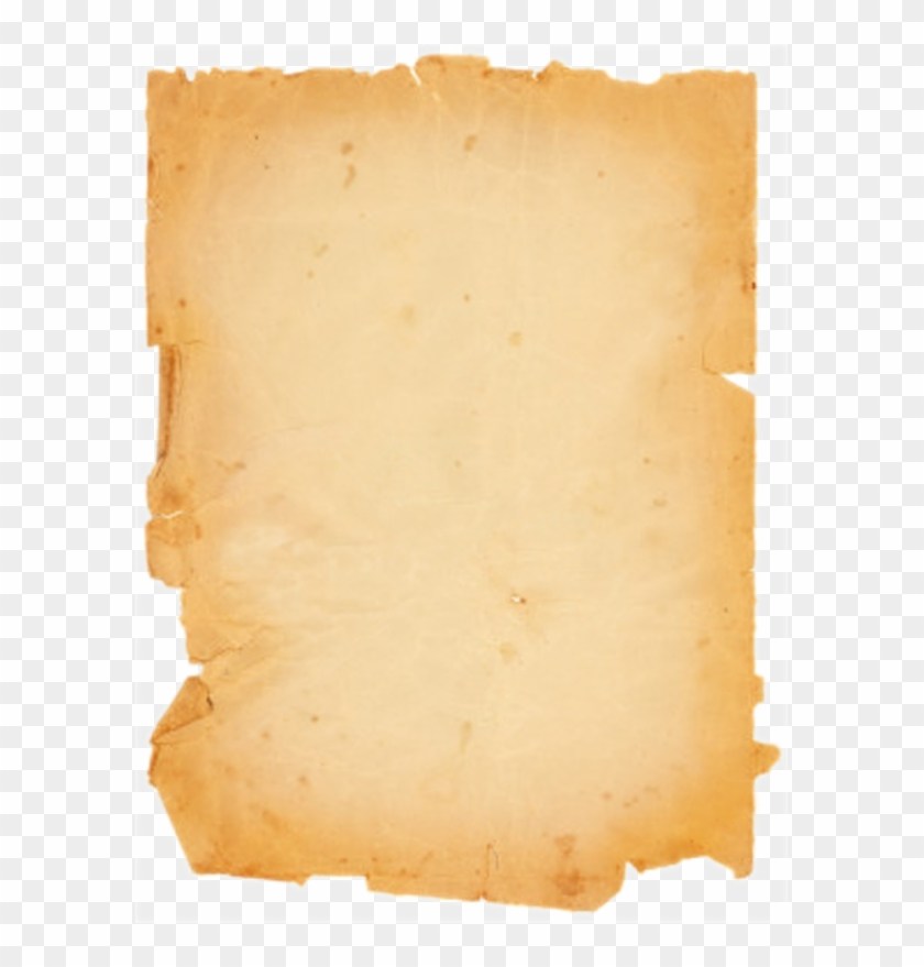 Parchment transparent background. Old png paper scroll