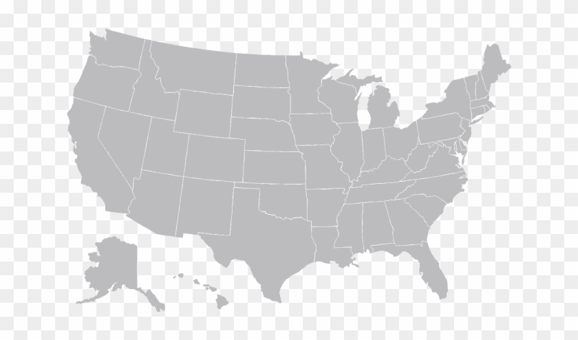 Map Of Us Png Map Image   United States Grey Map, HD Png Download   800x450