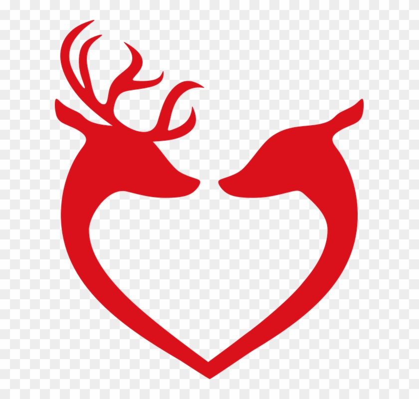 Christmas Heart Png.Reindeer Love Christmas Decoration Deer Decorative