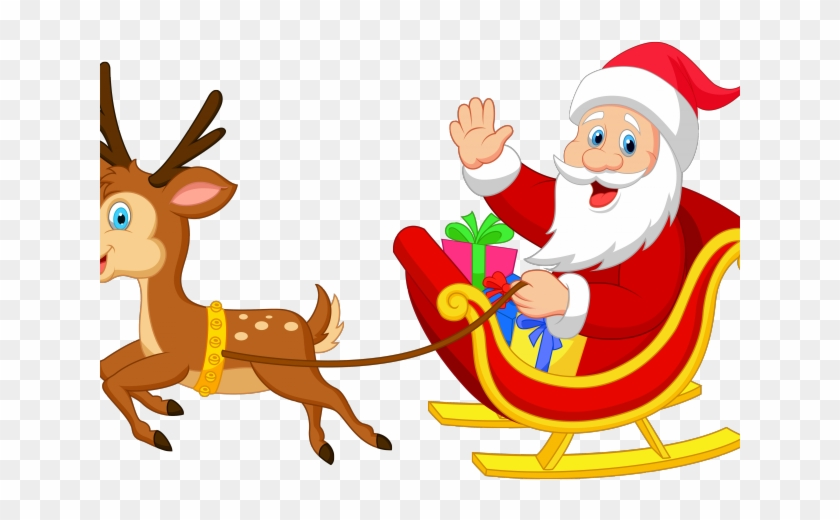 Santa reindeer. Clipart and transparent hd