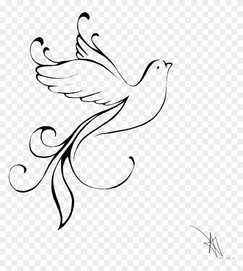 1000 X 1000 10 - Turtle Dove Drawing, HD Png Download