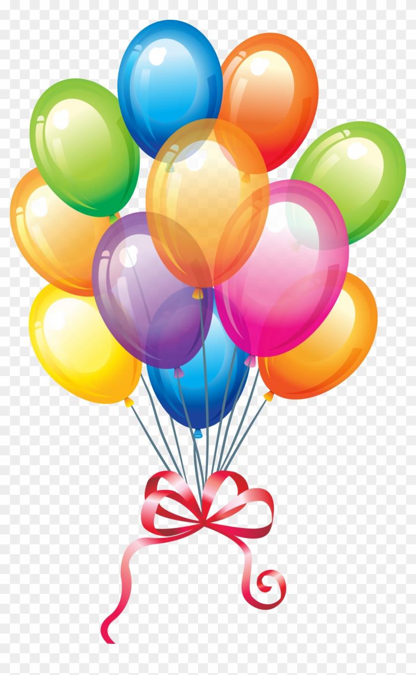 Globos Png Birthday Cake Amp Balloons Transparent Png
