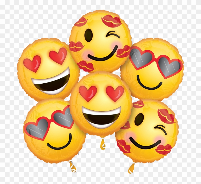 Globo Emoticon Love - Emojis De San Valentin, HD Png