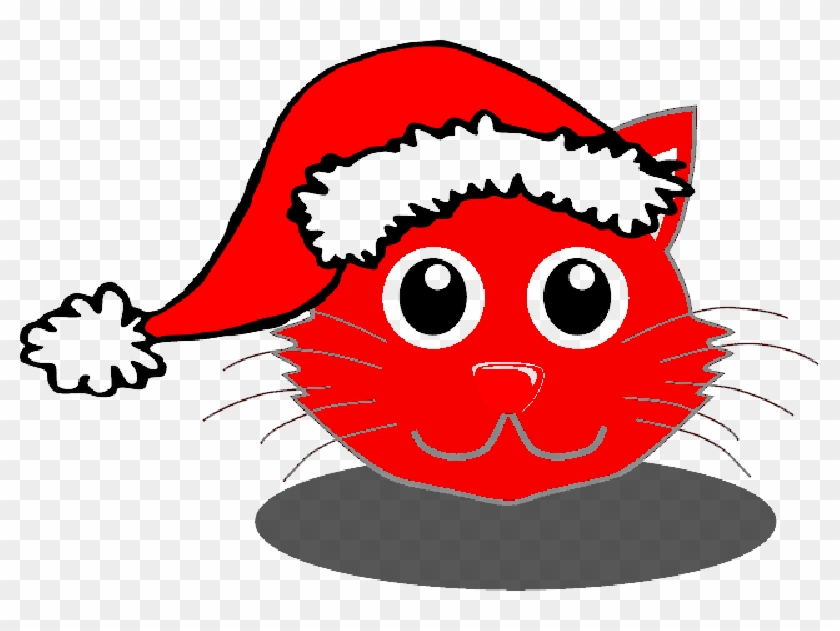 Christmas Hat Cartoon Transparent.Christmas Bear Shower Curtain Png Download Cartoon Cat